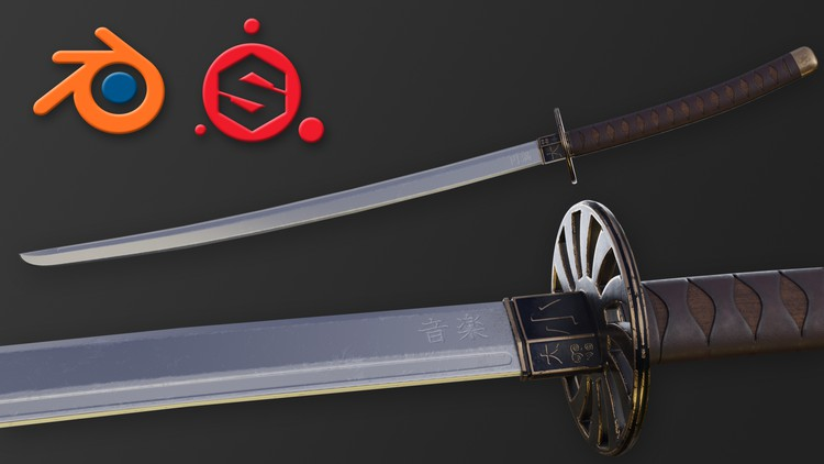 Learn to Create a Game-Ready Katana (Blender and Substance)