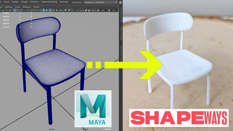 Model a Product in Maya to Sell on Shapeways 3D Print Store